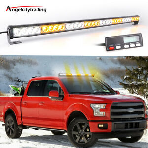 35 32 Led Traffic Advisor Emergency Hazard Warning Strobe Light Bar Red White