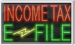 Outdoor Income Tax E file Neon Sign Outdoor Jantec 37 X 22 Taxes File