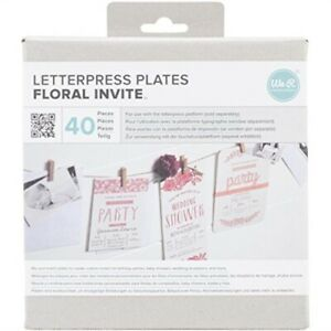 We R Memory Keepers Lifestyle Letterpress Plates Floral Invite