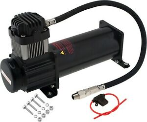 Onboard Universal Air Compressor 200psi 4 Car truck Train Horn suspension Kit
