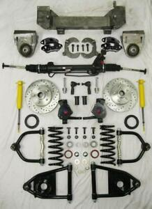 1949 54 Chevy Mustang Ii Bolt On Power Front End Suspension 2 Drop Kit Wilwood
