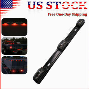 Red Led Clearance Id Marker Light Lights 15in Smoked Truck Trailer Light Bar