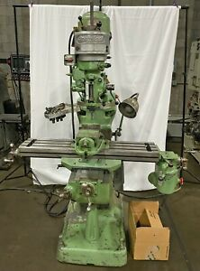 Bridgeport Vertical Knee Mill 9 x 42 Tbl 1hp