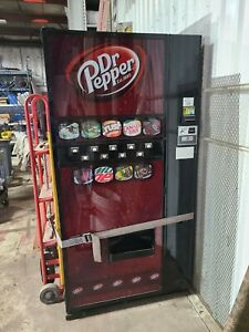 Used Dixie narco Dr Pepper Soda Pop Vending Machine Bills coins Flat Front