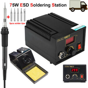 75w Soldering Station Esd Digital Welding Iron Kit Desoldering Gun Rework Tool