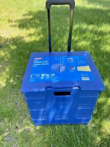 Dbest Products Quik Cart Two Wheeled Collapsible Handcart With Blue Lid