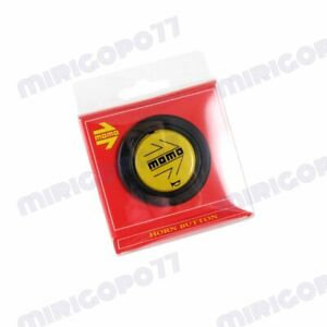 Brand New Black Yellow Arrow 59mm New Momo Steering Wheel Horn Button 1pcs