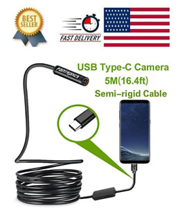 Pipe Inspection Camera Endoscope Video Sewer Drain Cleaner Waterproof Snake Usb