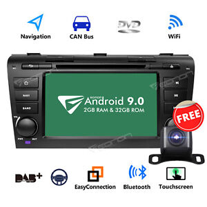 Us Android 9 0 2g Ram 32g Rom Car Stereo Gps Navigation Dvd 7 For Mazda 3 04 09