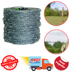 Farmgard Barbed Wire Fencing 1 320 Ft 4 point 15 1 2 gauge High tensile Cl3