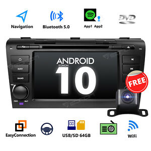 Android 10 2g Ram 32g Rom Car Stereo Gps Navigation Sat Dvd 7 For Mazda 3 04 09