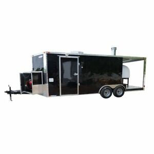 8 5 X 20 Concession Food Trailer Black Pizza Event Catering