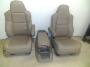 1999 2006 Ford F250 F350 F450 Super Duty Excursion Front Seats Leather