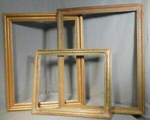 3 Arts Crafts 20x26 As Is Antique 22x28 Gilt Wood Picture Frame 16x20