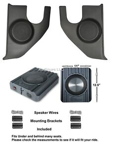 1967 1972 Chevy Gmc Truck Kick Panels With Speakers Installed Speaker Boxes