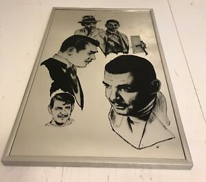 Vintage Etched And Serigraphed Mirror 12 X18
