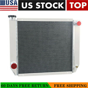 24 X 19 3 Rows Aluminum Radiator For Ford Mopar Heavy Duty Universal