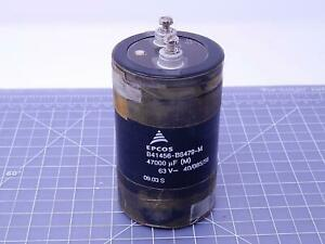 Lot Of 2 Epcos B41456 b8479 m Capacitors 47000 Uf 63 V T105912