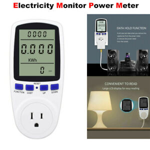 Digital Energy Monitor Power Saving Meter Watt Volt Amp Kwh Electricity Analyzer