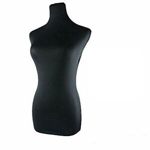 Black Dress Form Mannequin Dummy Fabric Material Cover