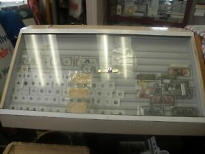 Table Wood Slated Show Display Cases For Coins Paper Money Cards