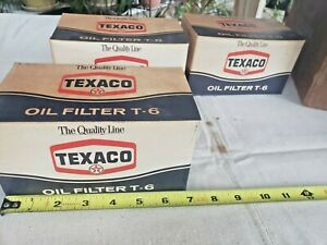 Case Of Vintage Texaco T 6 Oil Filters In Original Boxes Nos 12 Filters