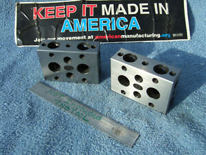 Moore 1 2 3 Blocks W case Toolmaker Machinist Grind Mill Inspection Quality