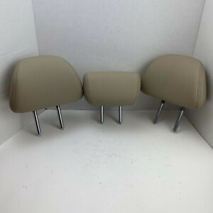 13 17 Honda Accord Rear Seat 2nd Row Headrest Set Head Rests Tan Leather Oem