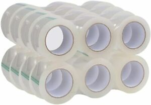 Industrial Grade Clear Packing Tape Heavy Duty 24 Rolls 110 Yards Per Roll