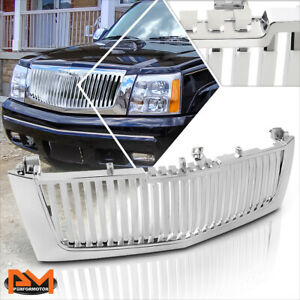 For 02 06 Escalade Esv ext Vertical Style Abs Plastic Front Hood Grille Chrome