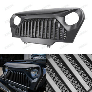Front Matte Black Vader Grill Angry Bird Grille For 1997 2006 Jeep Wrangler Tj