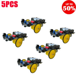 2wd Rc Smart Car Tracking Robot Car Chassis Diy Kit Reduction Motor 5pcs