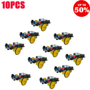 2wd Rc Smart Car Tracking Robot Car Chassis Diy Kit Reduction Motor 10pcs