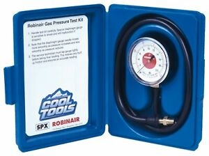 Robinair 42160 Gas Manifold Pressure Test Kit 0 35 Water Column