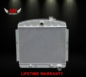 Kks Stamped Tank 1955 1957 Chevy Bel Air 6cyl Core Support Aluminum Radiator