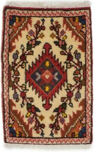 Hand Knotted Tribal Design 1x2 Tiny Vintage Small Size Rug Oriental Home Carpet