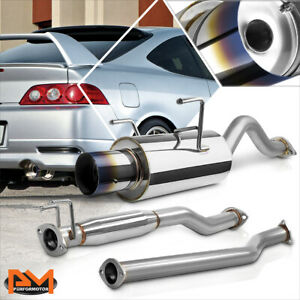 For 02 06 Acura Rsx Dc5 Non Type S 4 Burnt Tip Muffler Catback Exhaust System