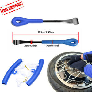 4p Tire Repair Tool Kit W Spoon Lever Iron Rim Protector For Motorcycle Bike