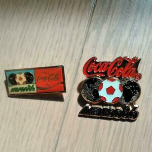 World Cup 1986 Mexico Tournament Coca-Cola Pin Badge 2 pieces set
