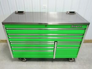 Snap On 68 Extreme Green Epiq Tool Box Stainless Steel Power Top