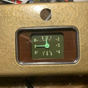 1939 Chevy Master Clock Electric Original Work Well