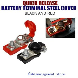 Upgrad Car Battery Terminal Connector Top Post Positive Negative Heavy Duty