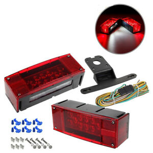 Rectangle Led Submersible Red Trailer Rectangle Stop Turn Tail Lights Kit