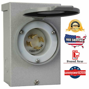 Reliance Controls Power Inlet Box 30 Amp Outdoor 4 wire Ul Generator Connector