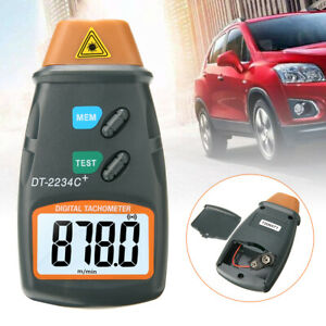 Handheld Digital Laser Tachometer Contact Tach Tool Rpm Tester Velocimeter