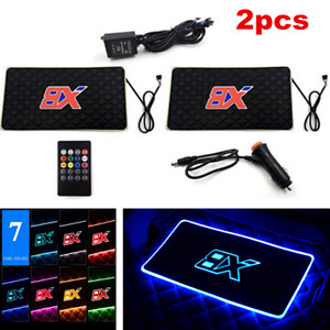 2x Led Car Charge Interior Accessories Floor Decorative Atmosphere Lamp Light