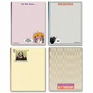 Funny Notepads Assorted Pack 4 To Do List Office Products