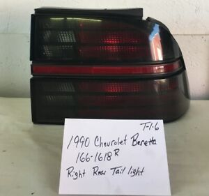 Used Vintage Chevrolet Beretta 1990 Right Rear Tail Light Drivers Quality