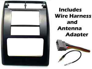 Double Din Radio Install Dash Kit Wiring Harness Fits 2003 2006 Jeep Wrangler Tj