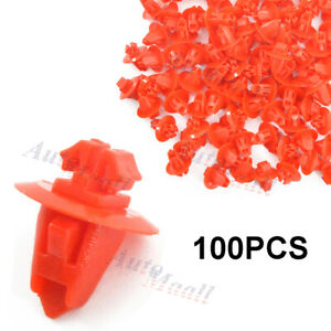 100pcs Mudguard Fender Flare Hood Retainer Clips For Toyota Tundra Land Cruiser
